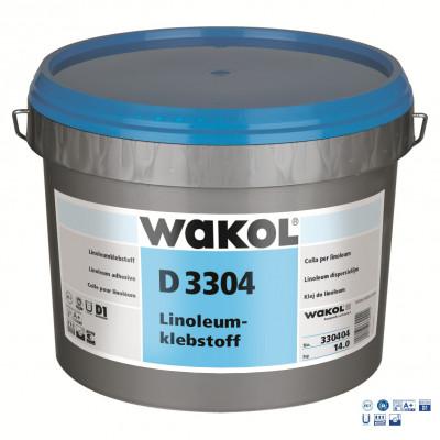 Клей для натурального линолеума Wakol D 3304 14 кг