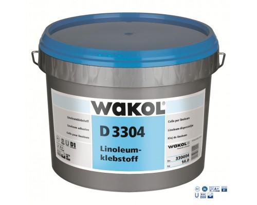Клей Wakol D 3304 Для натурального линолеума 14 кг