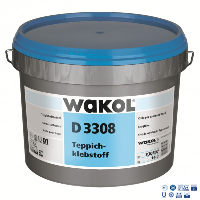 Клей Wakol D 3308 для ковровых покрытий 14 кг