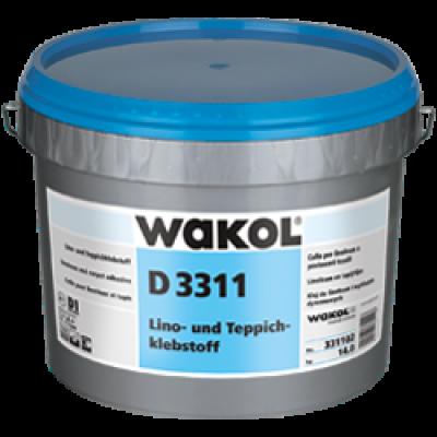 Клей Wakol D 3311 для линолеума и текстильных покрытий 14 кг